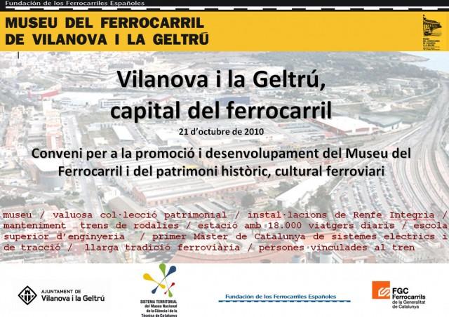 Conveni Ajuntament de Vilanova i la Geltrú amb el Museu del Ferrocarril