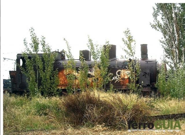 "Locomotora ""Laviana"" a Alcázar de San Juan. Foto: ferroGUIA"