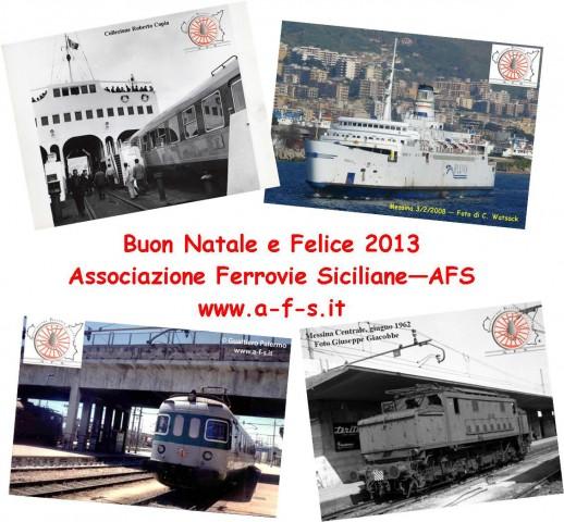 Felicitació de Nadal de l''Associazione Ferrovie Siciliane - AFS (Messina)