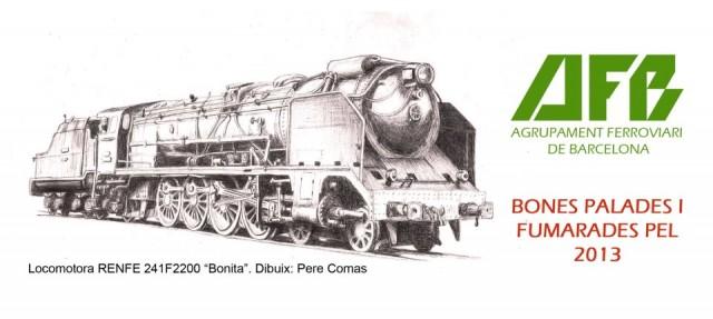 Felicitació de Nadal de l'Agrupament Ferroviari de Barcelona