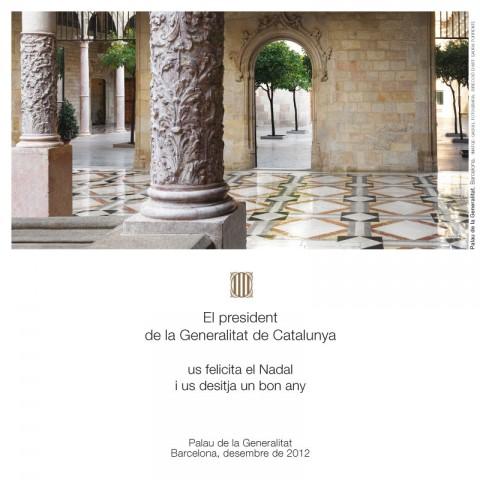 Felicitació de Nadal del President de la Generalitat