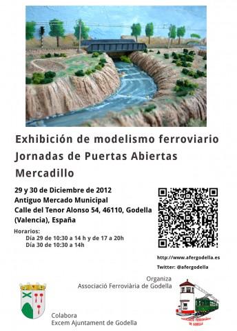Cartell de l'exposició de Modelisme Ferroviari, Associació Ferroviària de Godella