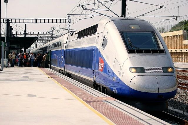 TGV a l'estació de Figueres. Foto: Luis Zamora