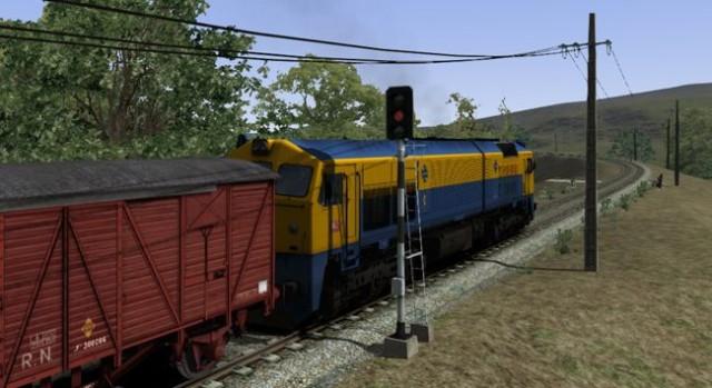 Imatge al simulador de la locomotora 319.2
