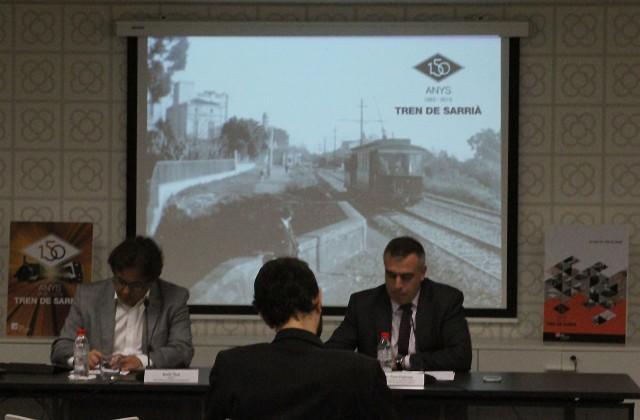 Imatge de la conferència 150 anys del Tren de Sarrià