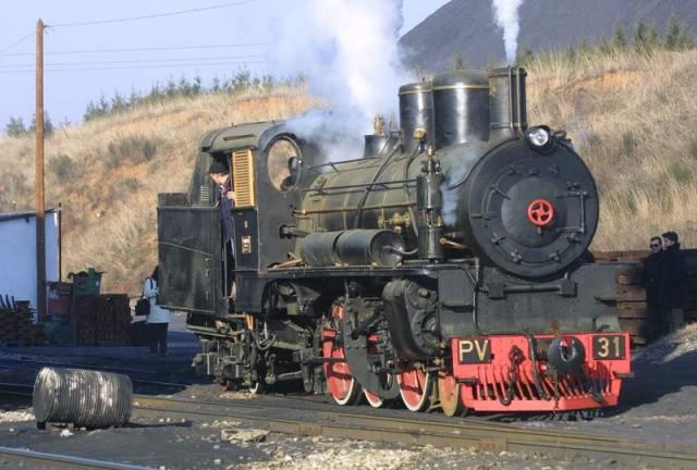 La locomotora PV 31 en proves d'encessa al desembre de 2001.