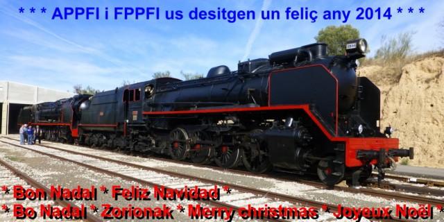 Felicitació de Nadal de l'APPFI – Amics del Ferrocarril de Móra la Nova