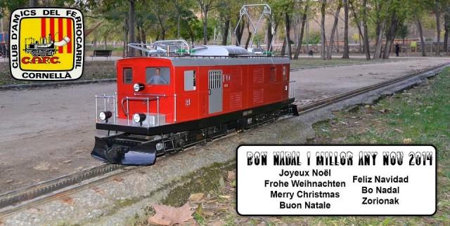Felicitació de Nadal del Club d'Amics del Ferrocarril Cornellà