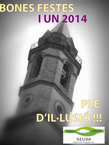 Felicitació de l'Ajuntament de Gelida