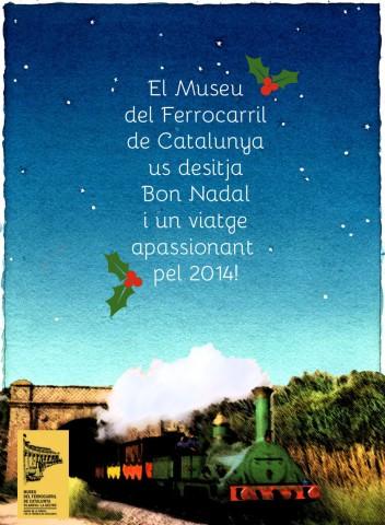 Felicitació de Nadal del Museu del Ferrocarril de Catalunya - Vilanova i la Geltrú