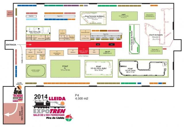Plànol general Expotren Lleida 2014