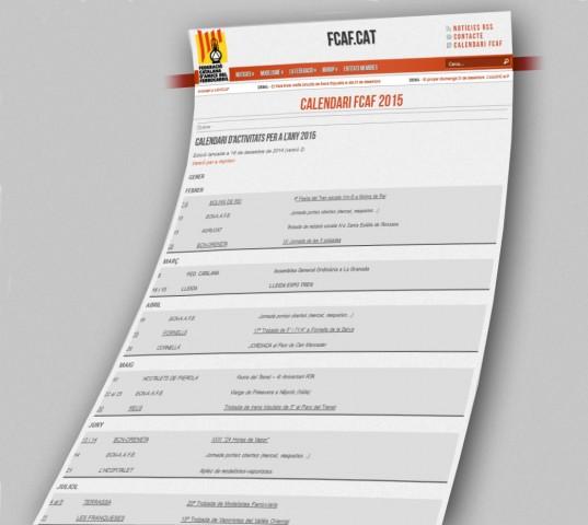 Calendari FCAF