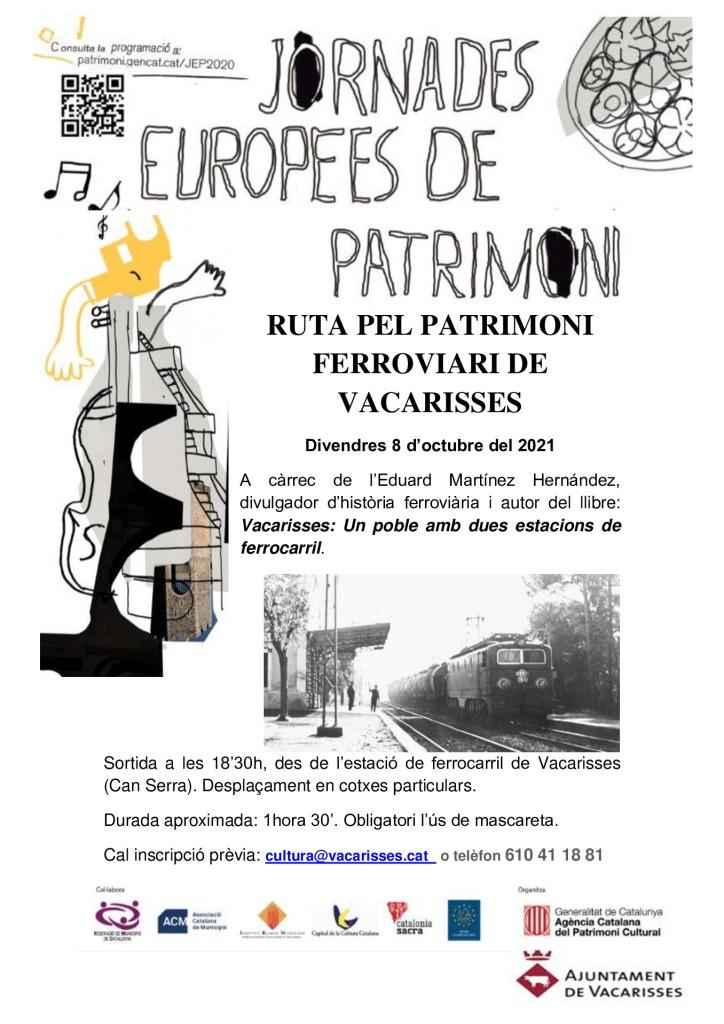thumbnail of Cartell RUTA PEL PATRIMONI FERROVIARI DE VACARISSES 1